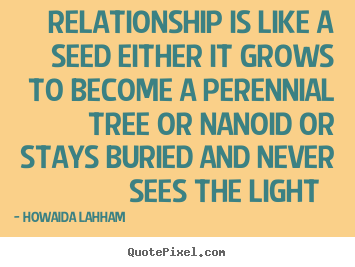 Sayings about friendship - Relationship is like a seed either it grows to become..