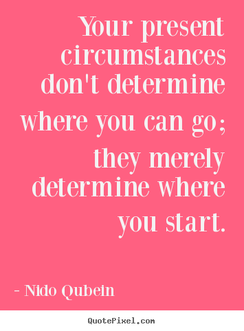 Create graphic picture quotes about inspirational - Your present circumstances don't determine where..