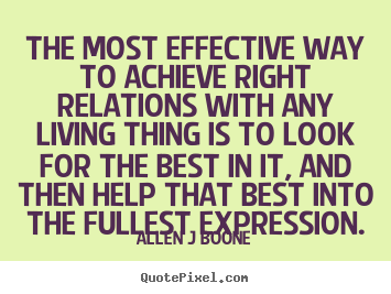 Create graphic poster quotes about inspirational - The most effective way to achieve right relations..