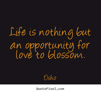 Inspirational quotes - Life is nothing but an opportunity for love..