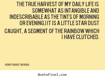 The true harvest of my daily life is somewhat.. Henry David Thoreau popular life quote
