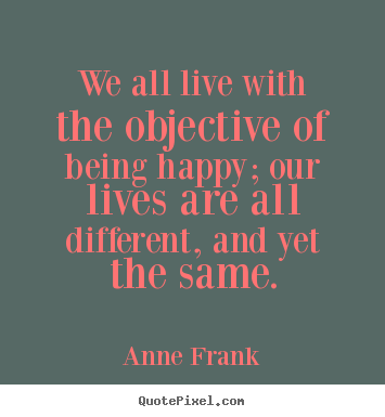 Motivational quotes - We all live with the objective of being happy; our lives are..