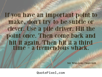 Success quotes - If you have an important point to make,..