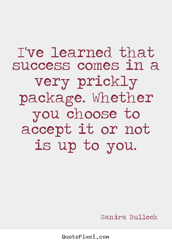 Success quotes - I've learned that success comes in a very..